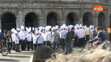 1 - 50 anni della Federazione Italiana Cuochi, gli chef al Vittoriano e al Colosseo
