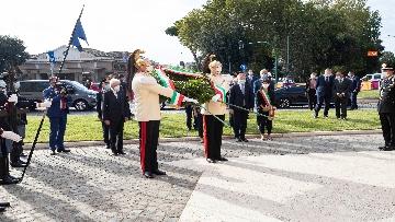 3 - 77° anniversario della Difesa di Roma, Mattarella a Porta San Paolo e al Parco della Resistenza