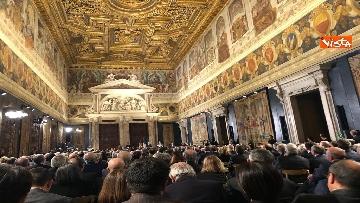 8 - Al Quirinale la cerimonia per lo scambio degli auguri di fine anno del Presidente della Repubblica Sergio Mattarella