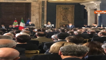 6 - Al Quirinale la cerimonia per lo scambio degli auguri di fine anno del Presidente della Repubblica Sergio Mattarella