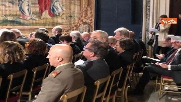 3 - Al Quirinale la cerimonia per lo scambio degli auguri di fine anno del Presidente della Repubblica Sergio Mattarella