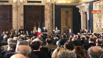 5 - Al Quirinale la cerimonia per lo scambio degli auguri di fine anno del Presidente della Repubblica Sergio Mattarella