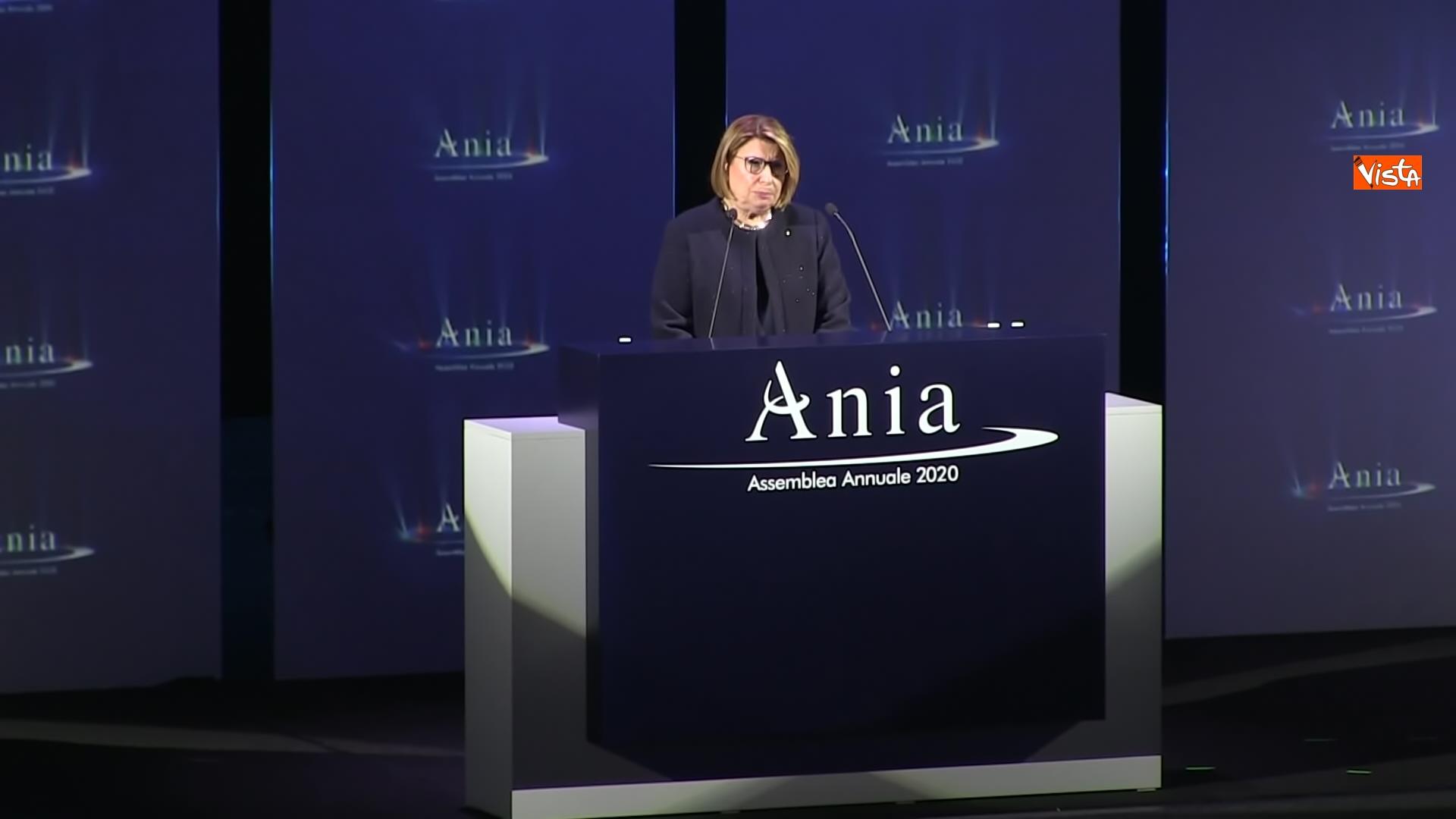 19-10-20 Ania l assemblea annuale 2020 con Conte e Patuanelli in video collegamento immagini_la presidente Ania Maria Bianca Farina_06