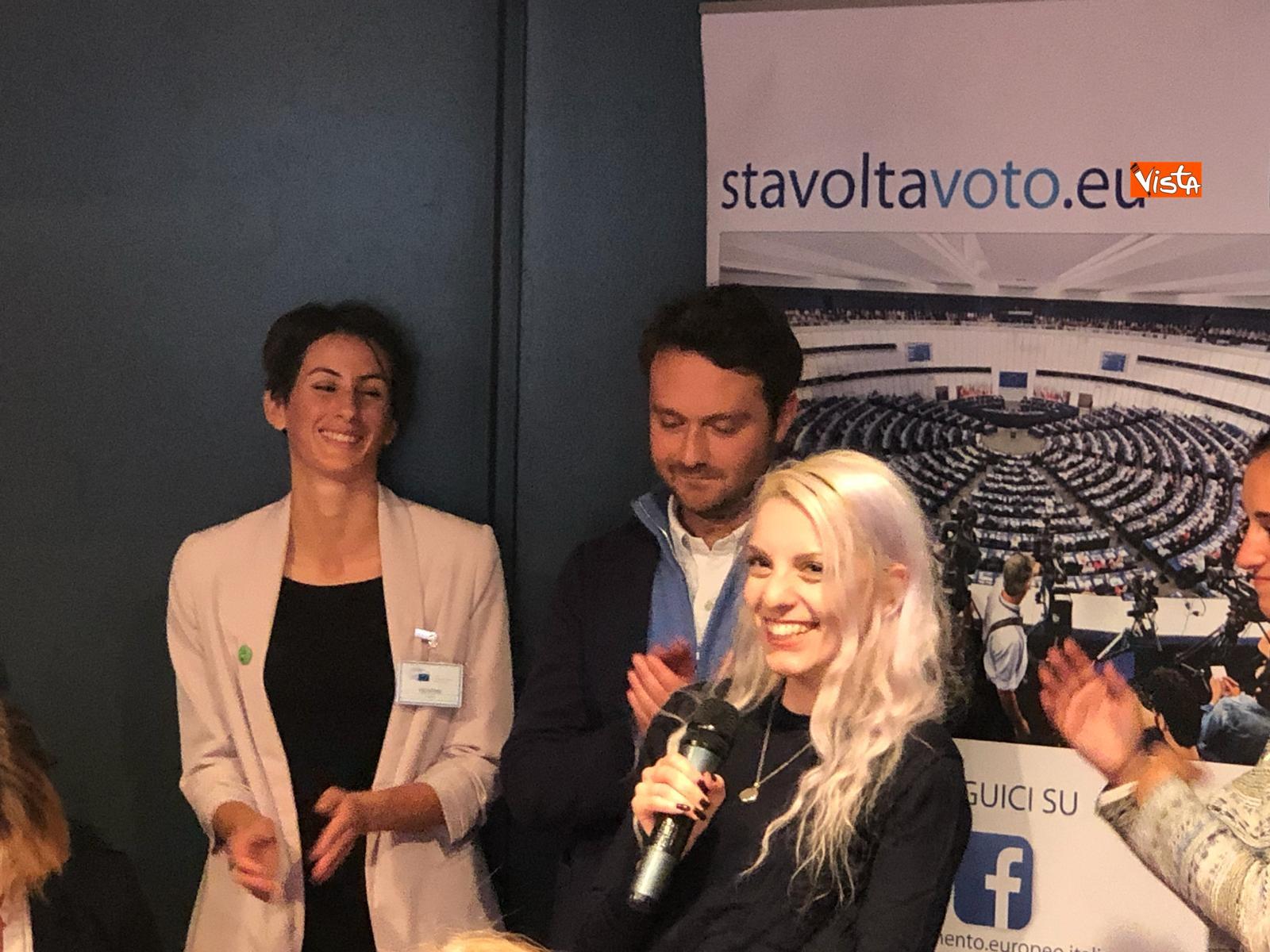 27-10-18 StavoltaVoto la campagna per sensibilizzare alvoto per le elezioni europee la presentazione - La web influencer Barbie Xanax