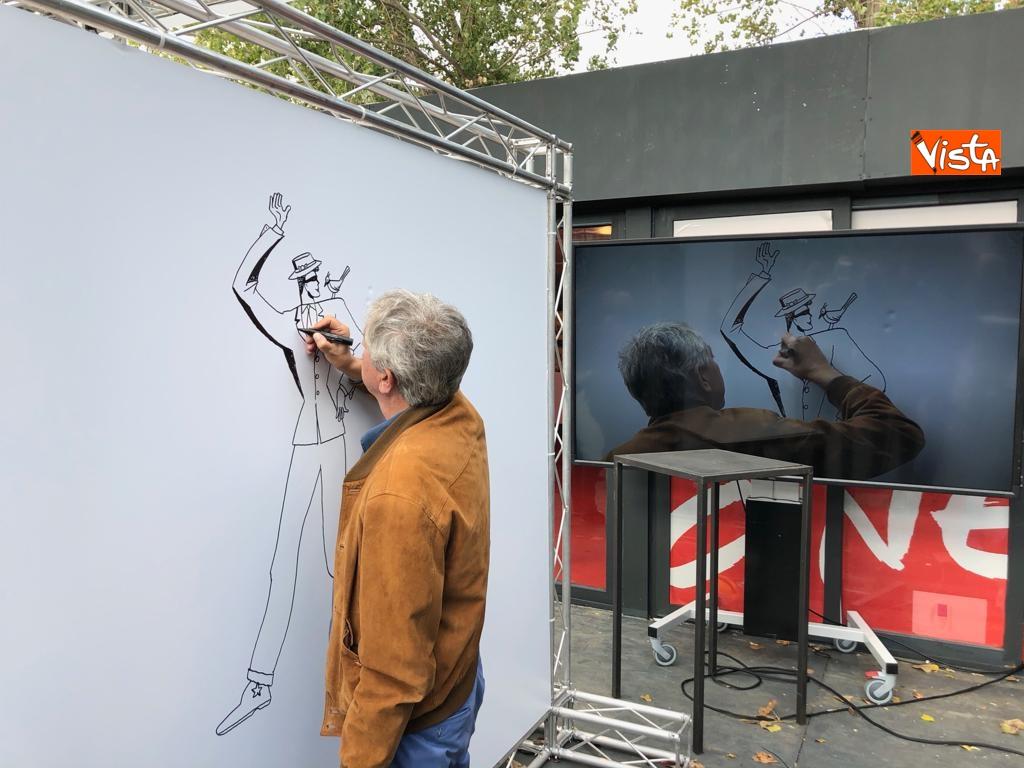 27-10-18 StavoltaVoto la campagna per sensibilizzare alvoto per le elezioni europee la presentazione -  Il fumettista Sergio Carpinteri 2