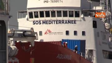 5 - Aquarius, Dattilo e Orione sono attraccate al porto di Valencia, finita l'Odissea per 629 migranti