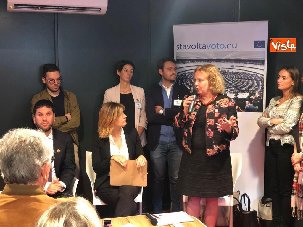 27-10-18 StavoltaVoto la campagna per sensibilizzare alvoto per le elezioni europee la presentazione - Il capo della rappresentanza della Commissione Ue, Beatrice Covassi