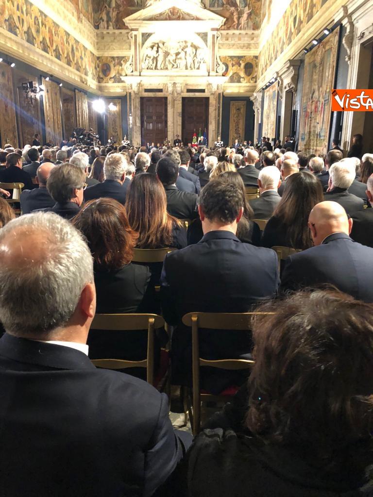 19-12-18 Al Quirinale la cerimonia per lo scambio degli auguri di fine anno del Presidente della Repubblica Sergio Mattarella_04