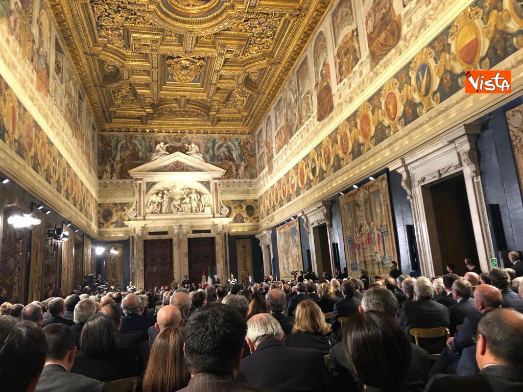 19-12-18 Al Quirinale la cerimonia per lo scambio degli auguri di fine anno del Presidente della Repubblica Sergio Mattarella_08