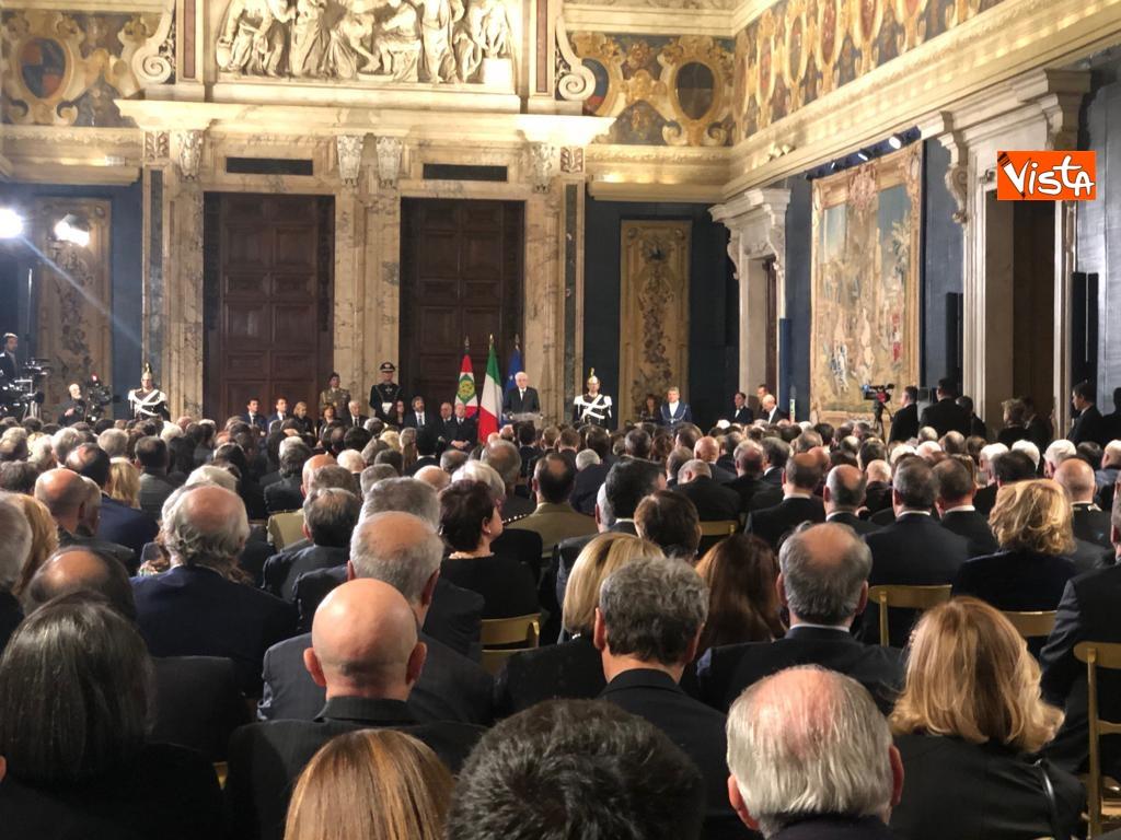 19-12-18 Al Quirinale la cerimonia per lo scambio degli auguri di fine anno del Presidente della Repubblica Sergio Mattarella_07