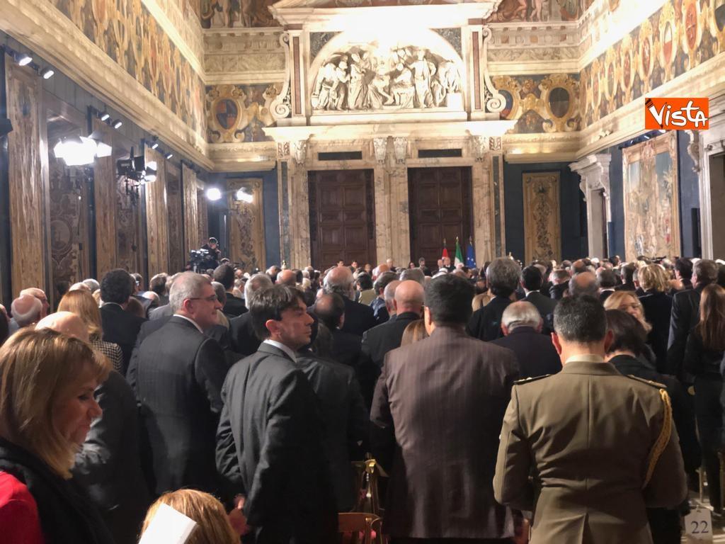 19-12-18 Al Quirinale la cerimonia per lo scambio degli auguri di fine anno del Presidente della Repubblica Sergio Mattarella_02