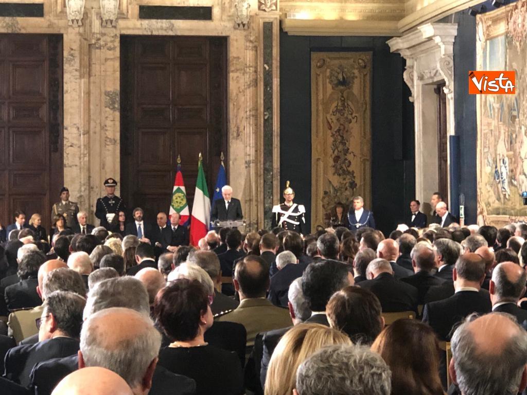 19-12-18 Al Quirinale la cerimonia per lo scambio degli auguri di fine anno del Presidente della Repubblica Sergio Mattarella_05