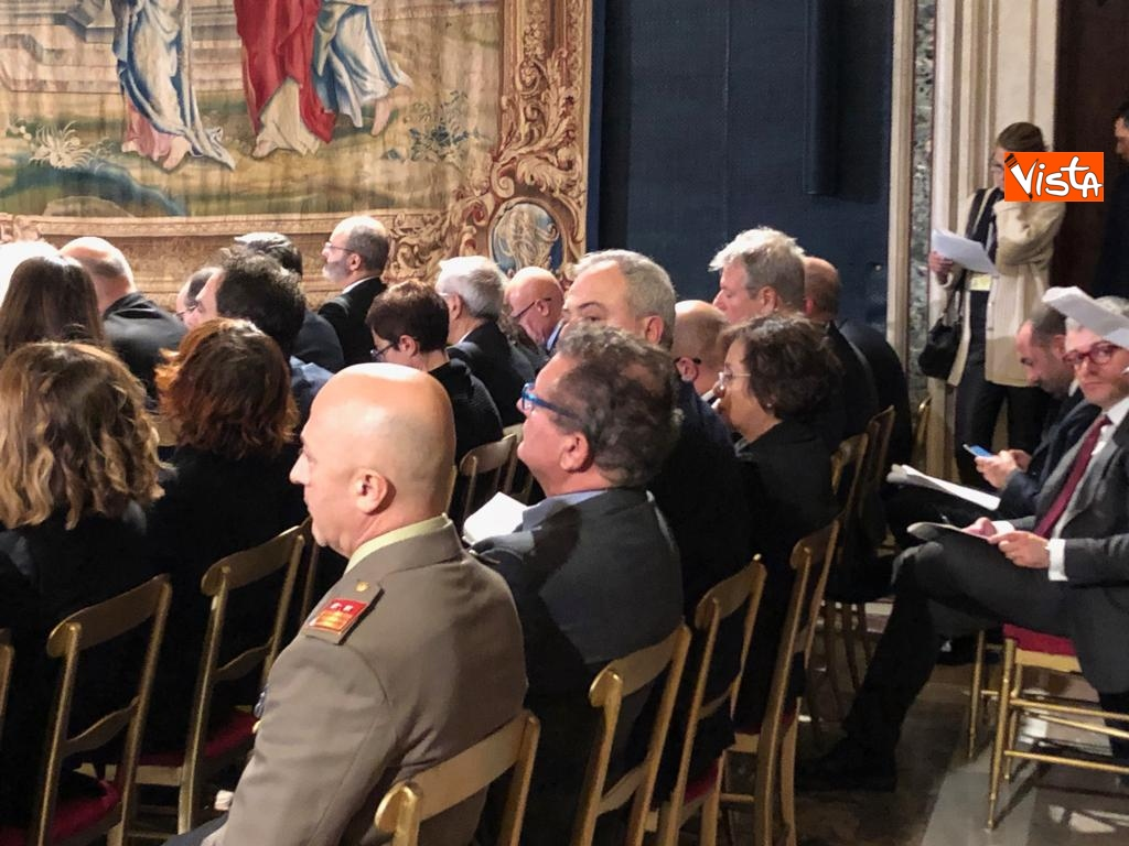 19-12-18 Al Quirinale la cerimonia per lo scambio degli auguri di fine anno del Presidente della Repubblica Sergio Mattarella_03