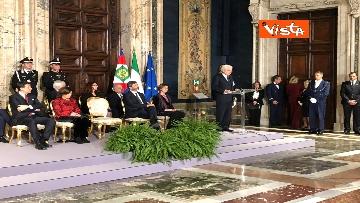 12 - Mattarella augura Buon Natale e felice anno nuovo ai rappresentanti di istituzioni e politica