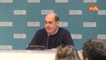6 - Zingaretti vince alla Regione Lazio, la prima conferenza stampa dopo la riconferma