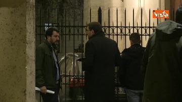 1 - Salvini a palazzo Grazioli per il summit con Berlusconi