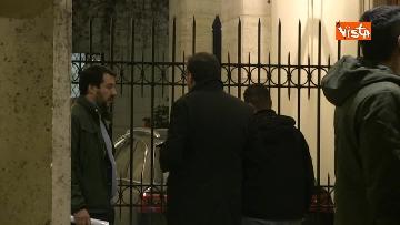 3 - Salvini a palazzo Grazioli per il summit con Berlusconi