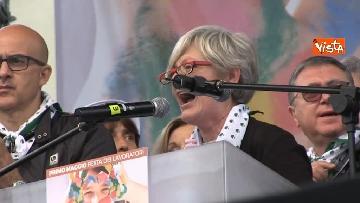 15 - Camusso, Furlan, Barbagallo alla manifestazione del primo maggio a Prato. Presente Martina
