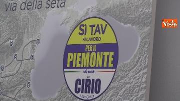 3 - Regionali Piemonte, il candidato del centrodestra Cirio insieme alla lista Si Tav