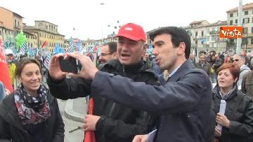 19 - Camusso, Furlan, Barbagallo alla manifestazione del primo maggio a Prato. Presente Martina