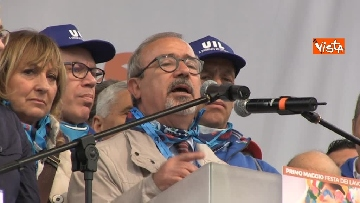 12 - Camusso, Furlan, Barbagallo alla manifestazione del primo maggio a Prato. Presente Martina