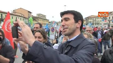 20 - Camusso, Furlan, Barbagallo alla manifestazione del primo maggio a Prato. Presente Martina