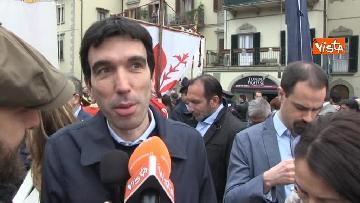 21 - Camusso, Furlan, Barbagallo alla manifestazione del primo maggio a Prato. Presente Martina