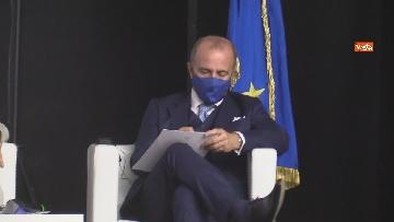 8 - Stato dell'Unione, Amendola e capo rappresentanza commissione UE in Italia Parenti seguono discorso von der Leyen, le foto