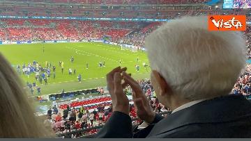 4 - Italia Campione d'Europa, l'esultanza di Mattarella allo stadio di Wembley