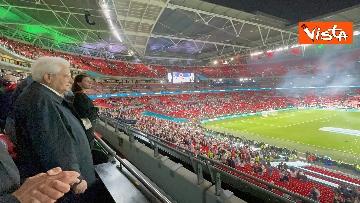 10 - Italia Campione d'Europa, l'esultanza di Mattarella allo stadio di Wembley