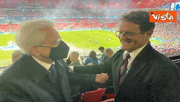 12 - Italia Campione d'Europa, l'esultanza di Mattarella allo stadio di Wembley