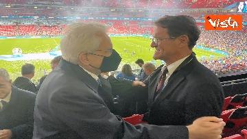 13 - Italia Campione d'Europa, l'esultanza di Mattarella allo stadio di Wembley