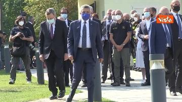 1 - Draghi depone corona alloro al memoriale in ricordo delle vittime di Amatrice