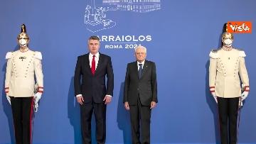 """12 - Mattarella ospita il 16esimo incontro dei capi di Stato del """"Gruppo Arraiolos"""", le immagini"""
