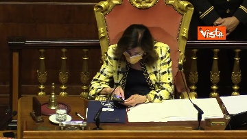 2 - Draghi al Senato per le comunicazioni in vista del prossimo Consiglio europeo. Le foto