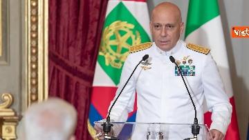 3 - 160 anni Marina Militare, Mattarella riceve Giuseppe Cavo Dragone, capo di stato maggiore