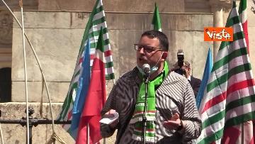 6 - Cgil, Cisl e Uil in piazza contro i licenziamenti. Le foto della manifestazione a Montecitorio