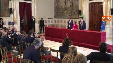 1 - Emma Bonino incontra la stampa dopo il colloquio con Giuseppe Conte