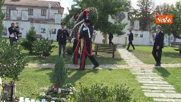 7 - Draghi depone corona alloro al memoriale in ricordo delle vittime di Amatrice