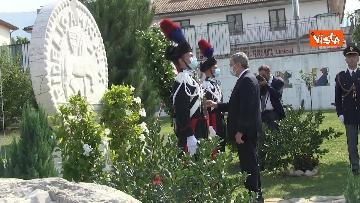 8 - Draghi depone corona alloro al memoriale in ricordo delle vittime di Amatrice