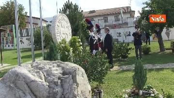 6 - Draghi depone corona alloro al memoriale in ricordo delle vittime di Amatrice