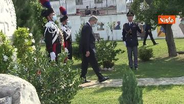 9 - Draghi depone corona alloro al memoriale in ricordo delle vittime di Amatrice