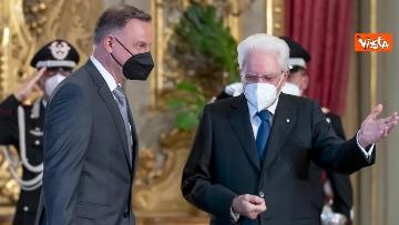 """2 - Mattarella ospita il 16esimo incontro dei capi di Stato del """"Gruppo Arraiolos"""", le immagini"""