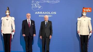 """5 - Mattarella ospita il 16esimo incontro dei capi di Stato del """"Gruppo Arraiolos"""", le immagini"""