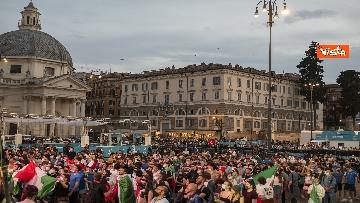 5 - Italia - Turchia, le immagini dei tifosi a Piazza del Popolo