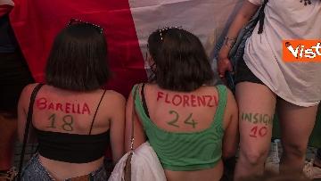 8 - Italia - Turchia, le immagini dei tifosi a Piazza del Popolo