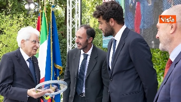 19 - L'Italia campione d'Europa arriva al Quirinale per incontrare Mattarella. Le immagini