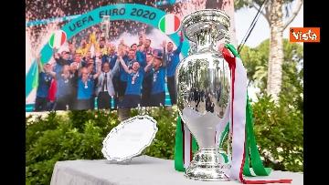 4 - L'Italia campione d'Europa arriva al Quirinale per incontrare Mattarella. Le immagini