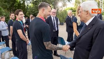 14 - L'Italia campione d'Europa arriva al Quirinale per incontrare Mattarella. Le immagini