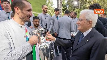 11 - L'Italia campione d'Europa arriva al Quirinale per incontrare Mattarella. Le immagini